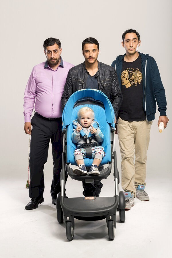 3 Türken und 1 Baby