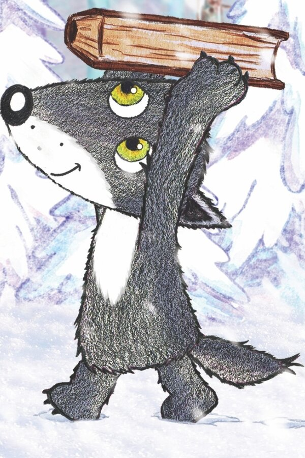 Little Grey Wolfy - The Winter Story image