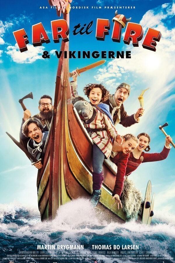 Vader met Vier Kinderen en de Vikingen image