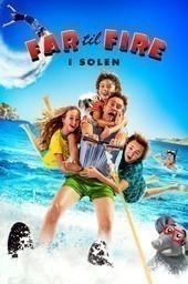 Vader met vier kinderen op vakantie