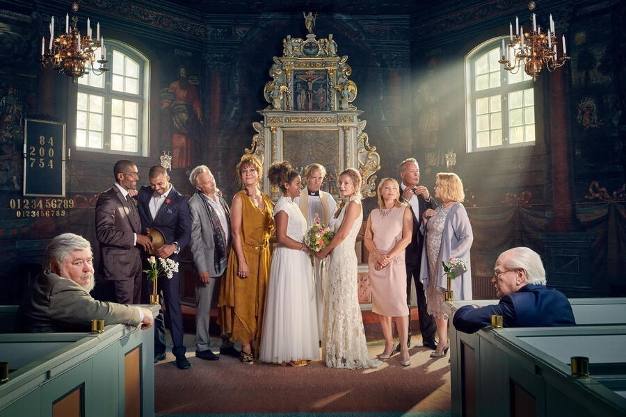 A wedding, a funeral, a christening image