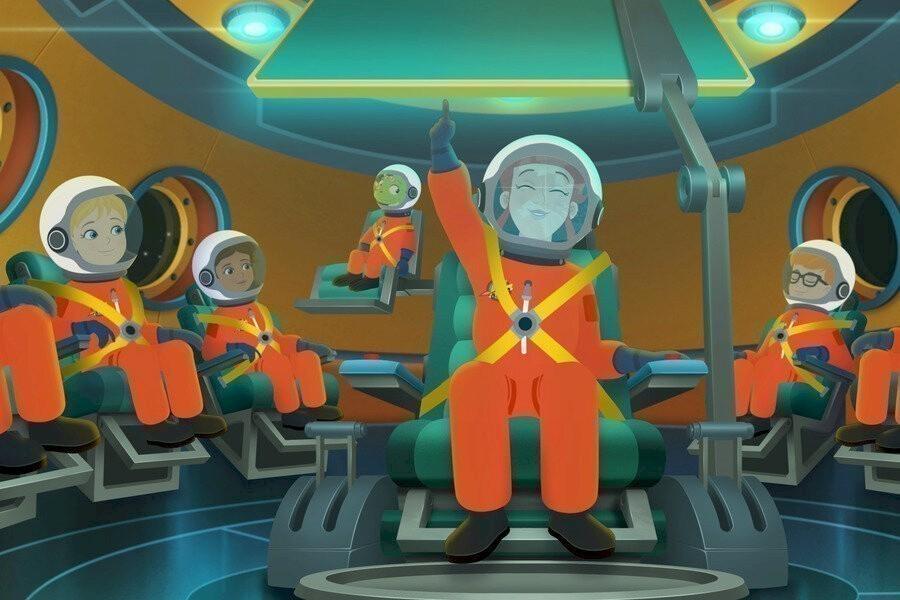 De magische schoolbus rijdt opnieuw: kids in de ruimte image